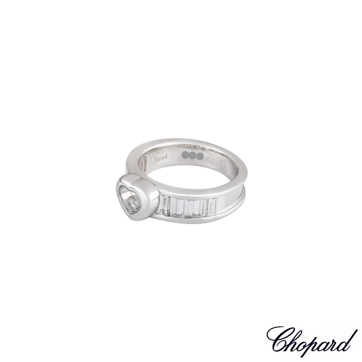 Chopard 18k White Gold Diamond Ring B&P Size N 826983-1110